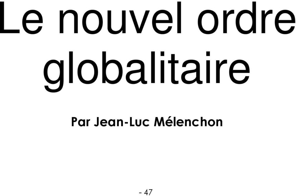 globalitaire
