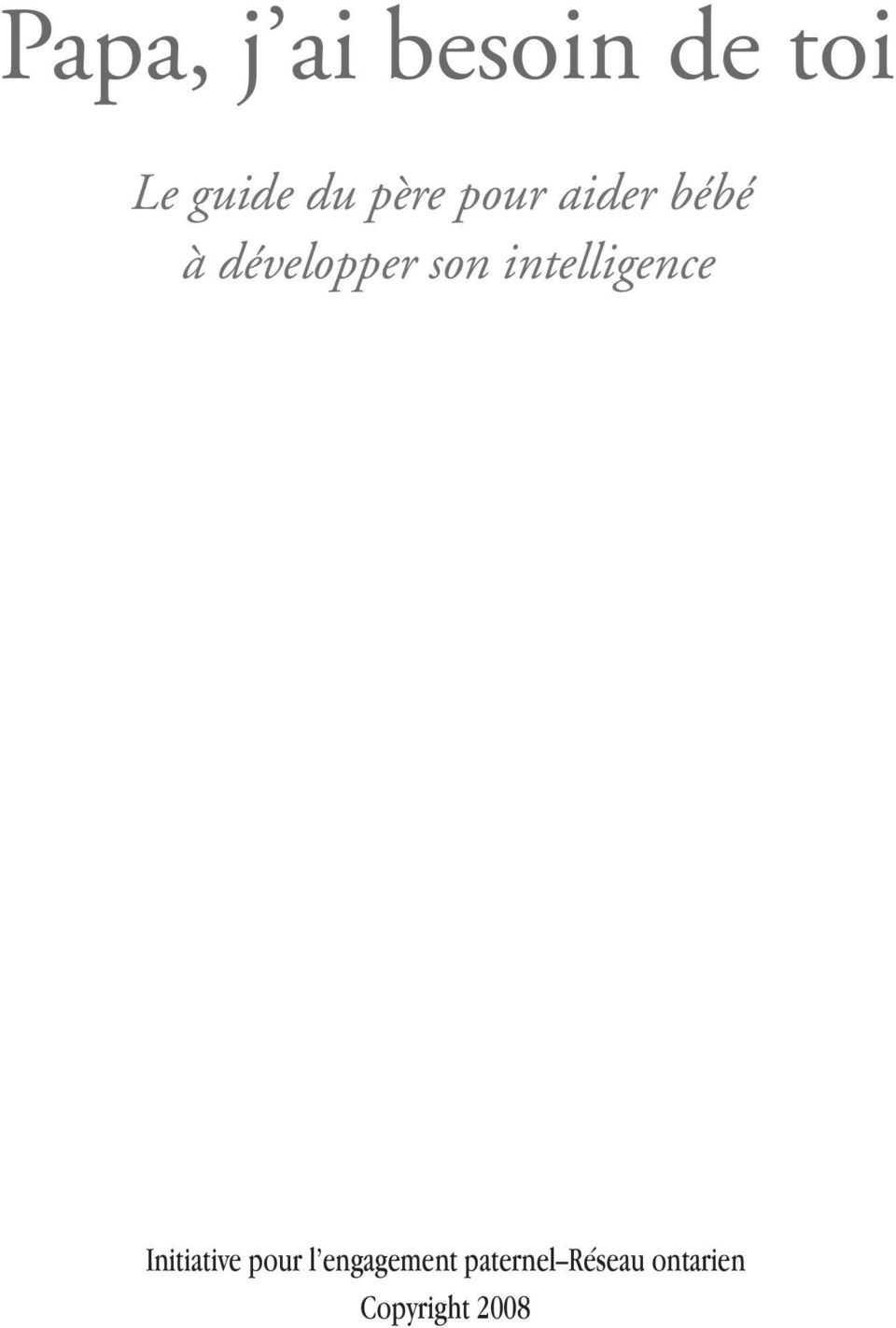 intelligence Initiative pour