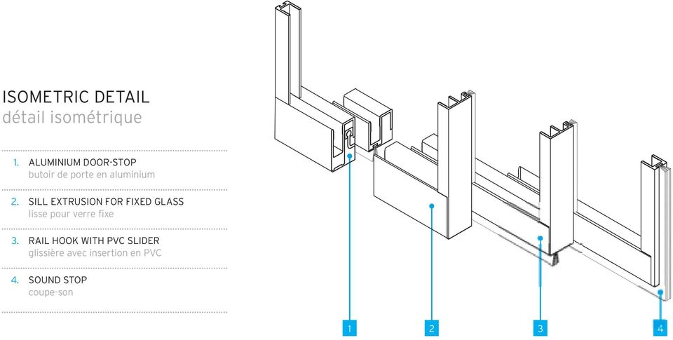 SILL EXTRUSION FOR FIXED GLASS lisse pour verre fixe 3.
