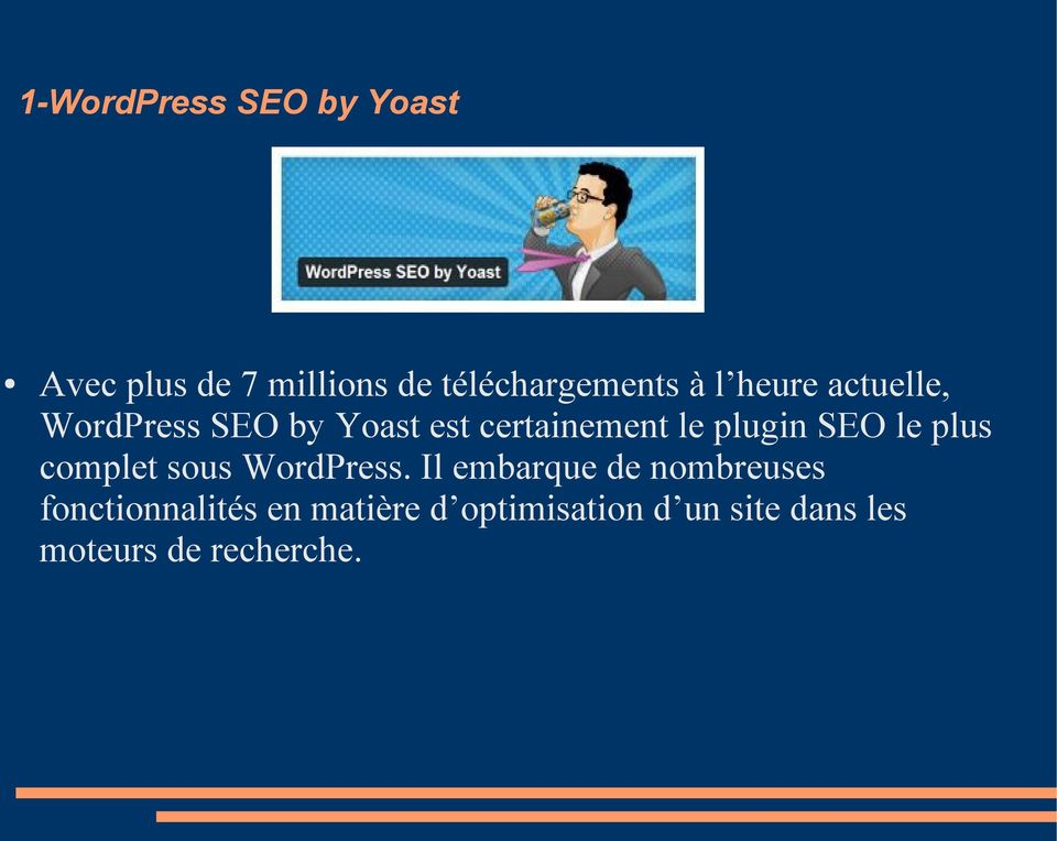 SEO le plus complet sous WordPress.
