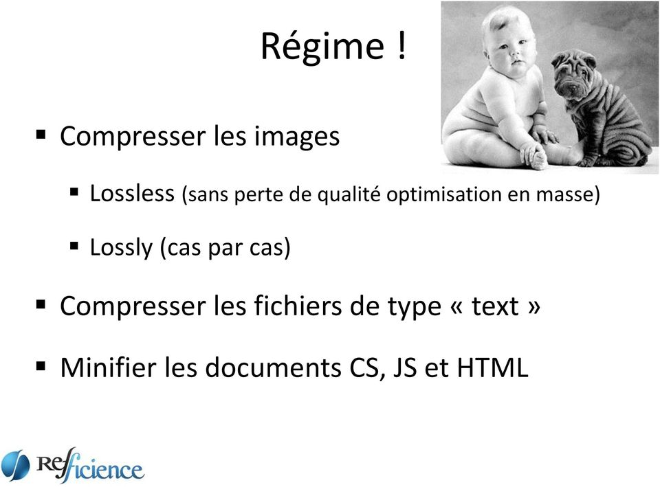 qualité optimisation en masse) Lossly (cas