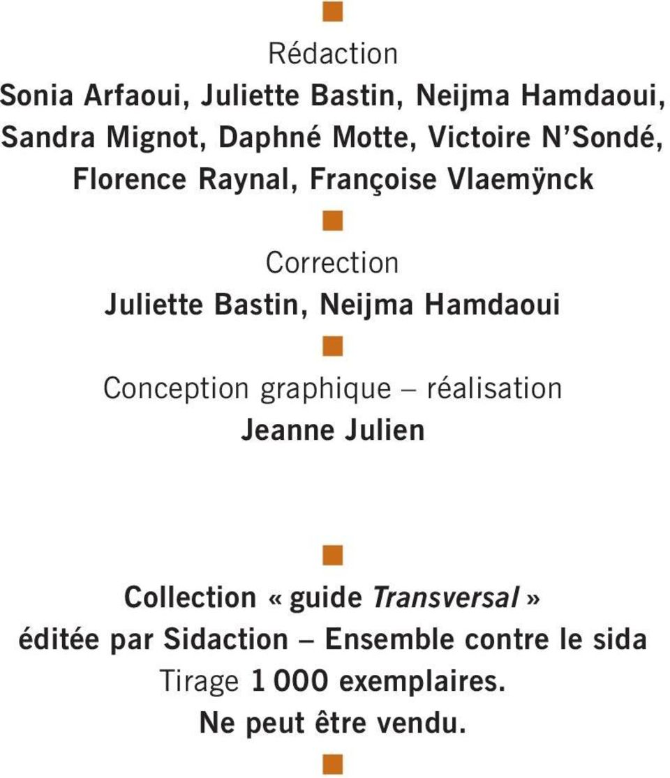 Neijma Hamdaoui Conception graphique réalisation Jeanne Julien Collection «guide