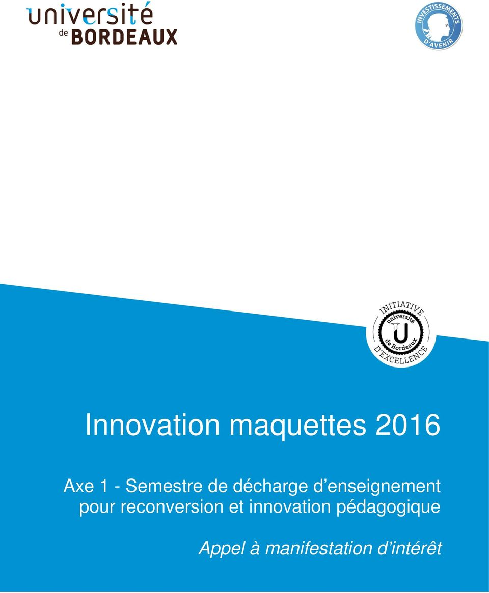 pour reconversion et innovation