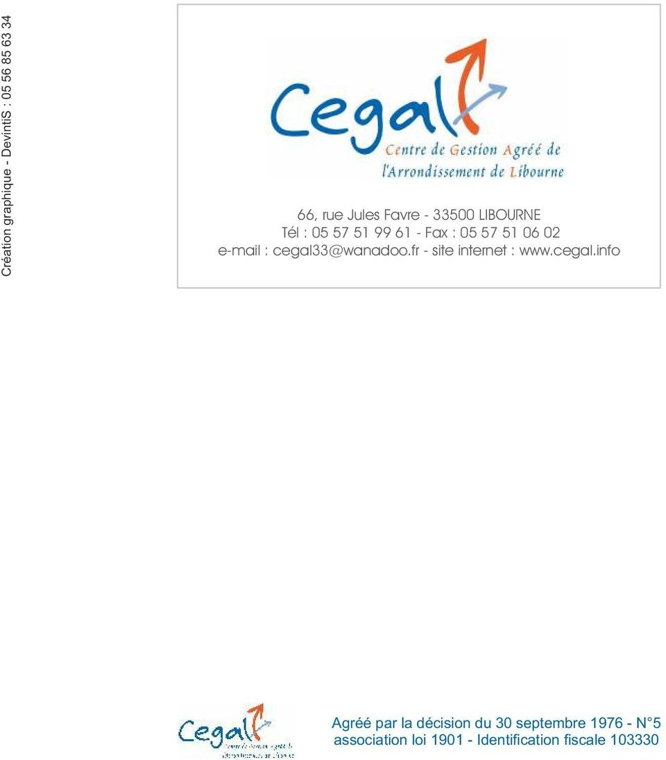 fr - site internet : www.cegal.