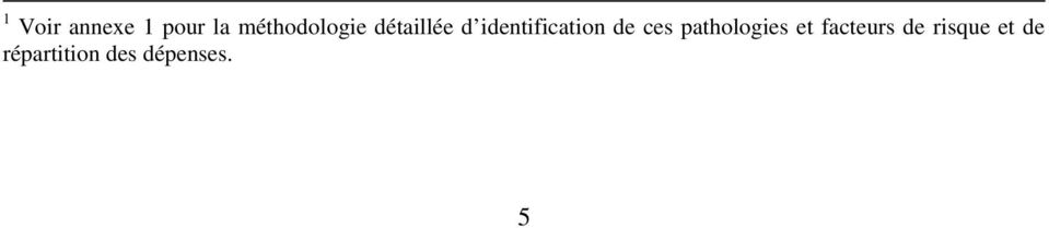 identification de ces pathologies