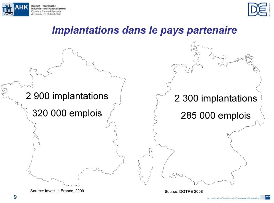 implantations 285 000 emplois 9 Source: