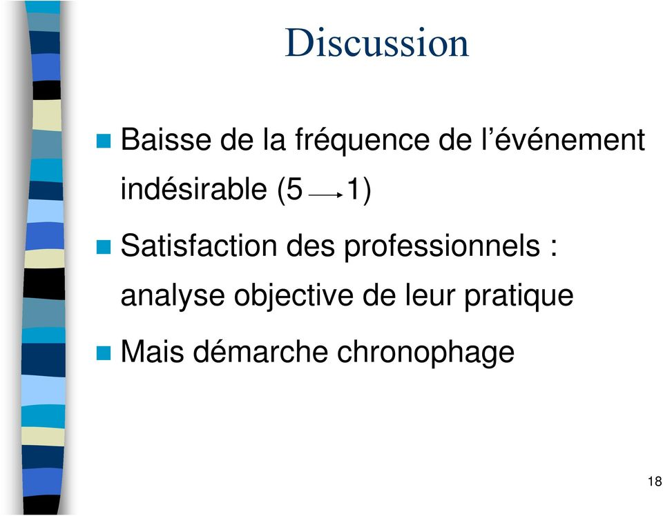 des professionnels : analyse objective
