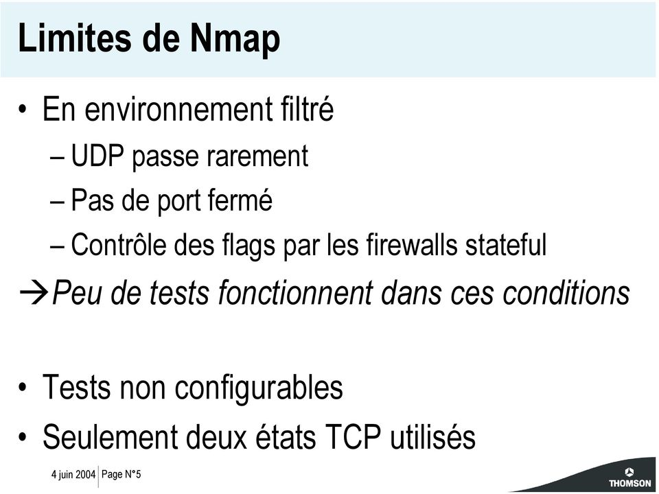 stateful Peu de tests fonctionnent dans ces conditions