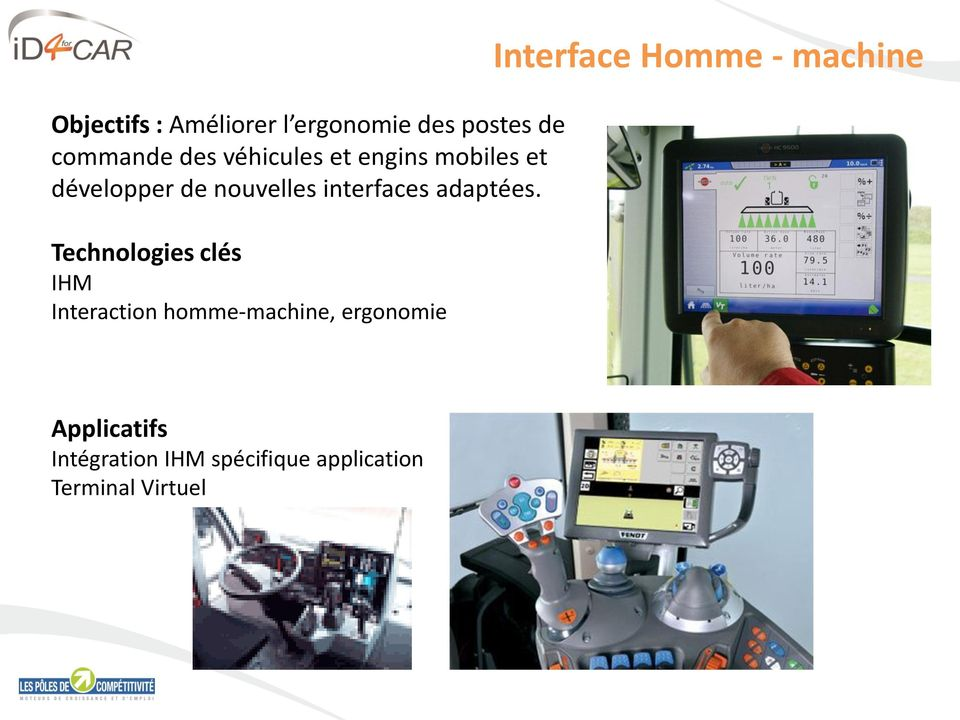 Technologies clés IHM Interaction homme-machine, ergonomie Interface