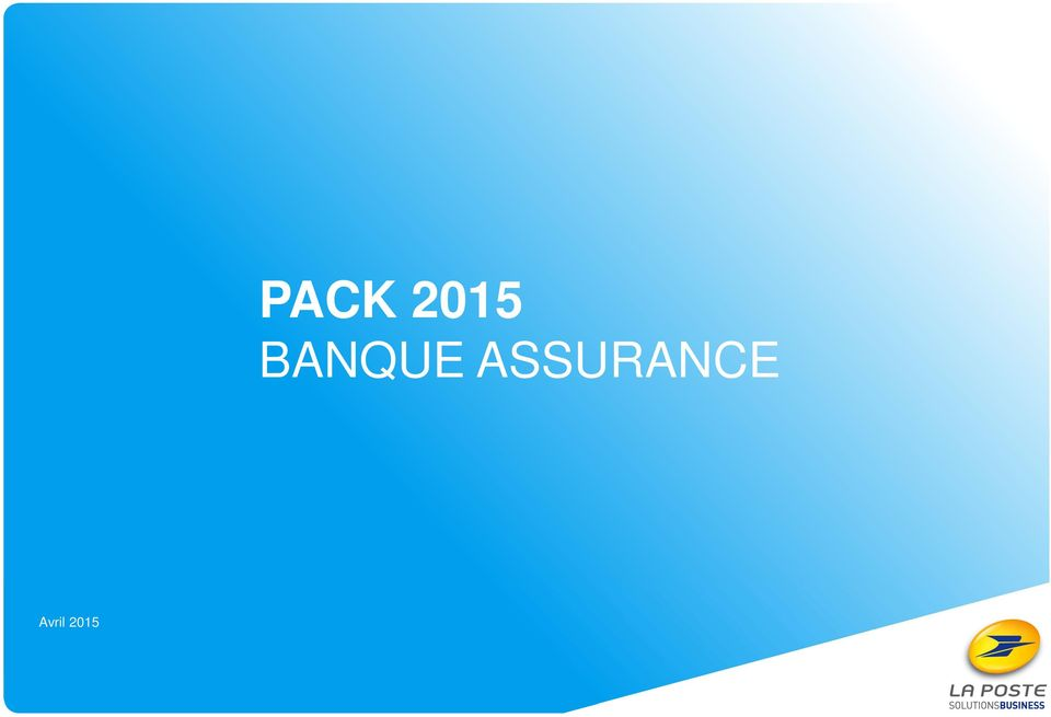 2015 1/ PACK BANQUE