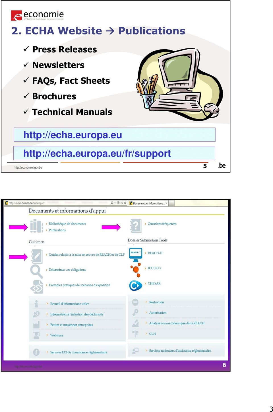 Brochures Technical Manuals http://echa.