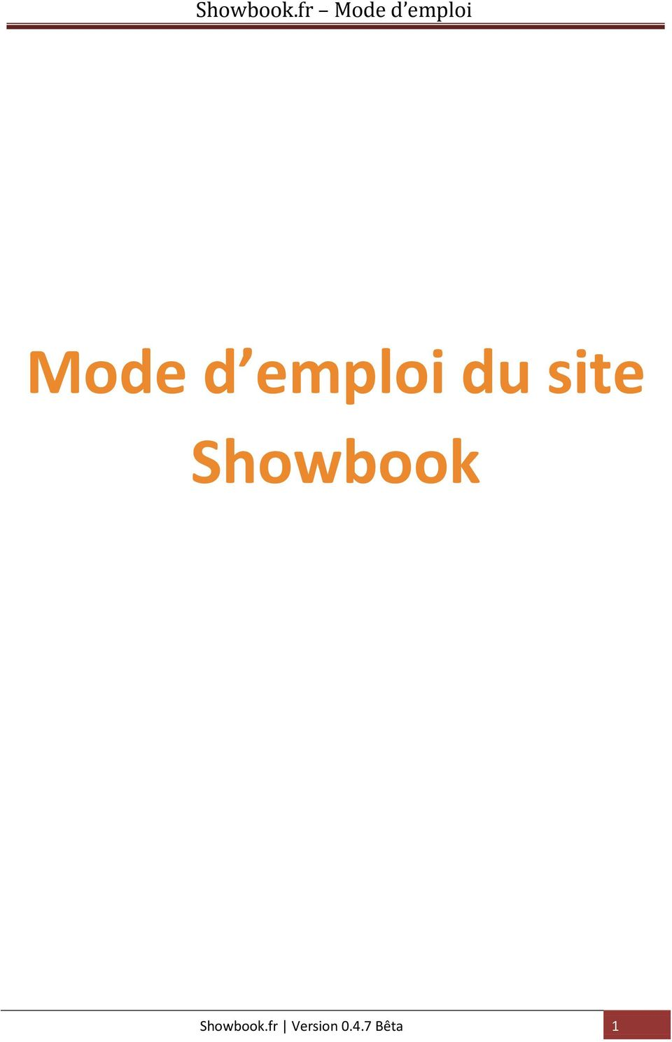 Showbook