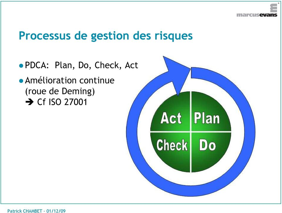 Check, Act Amélioration