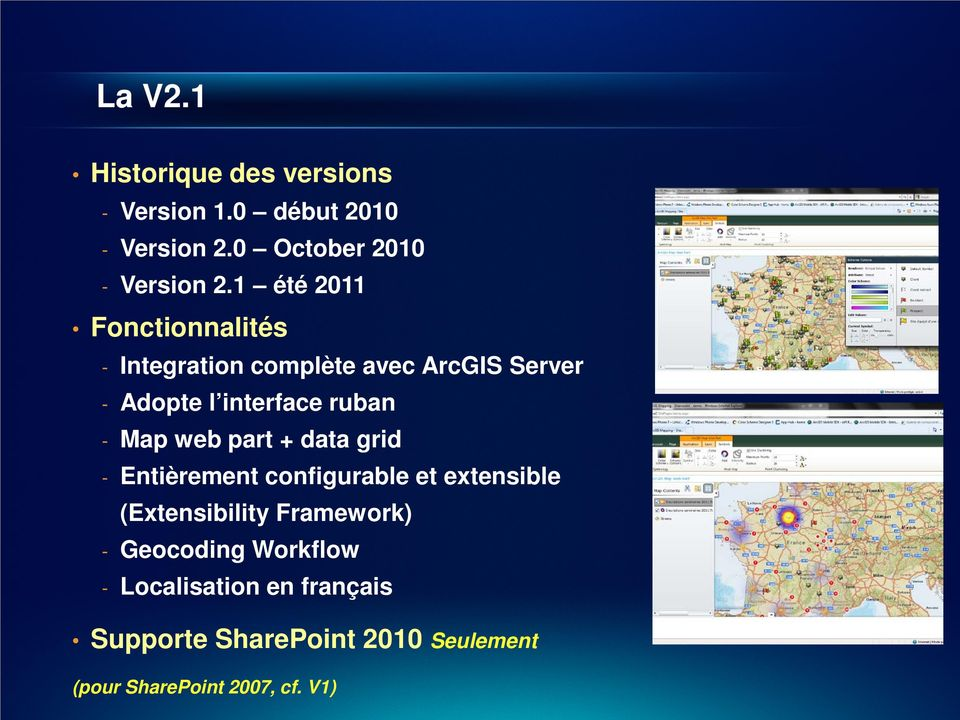Map web part + data grid - Entièrement configurable et extensible (Extensibility Framework) -