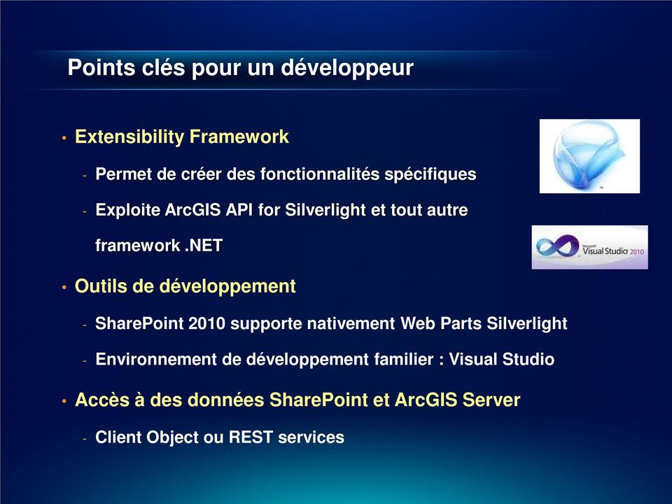 net Outils de développement - SharePoint 2010 supporte nativement Web Parts Silverlight -