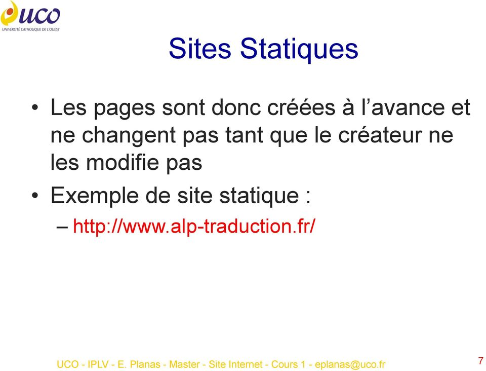 de site statique : http://www.alp-traduction.