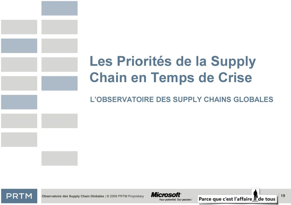 SUPPLY CHAINS GLOBALES Observatoire
