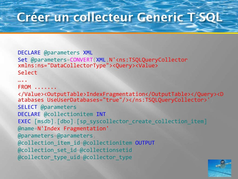 ".. </Value><OutputTable>IndexFragmentation</OutputTable></Query><D atabases UseUserDatabases=""true""/></ns:TSQLQueryCollector>') SELECT"