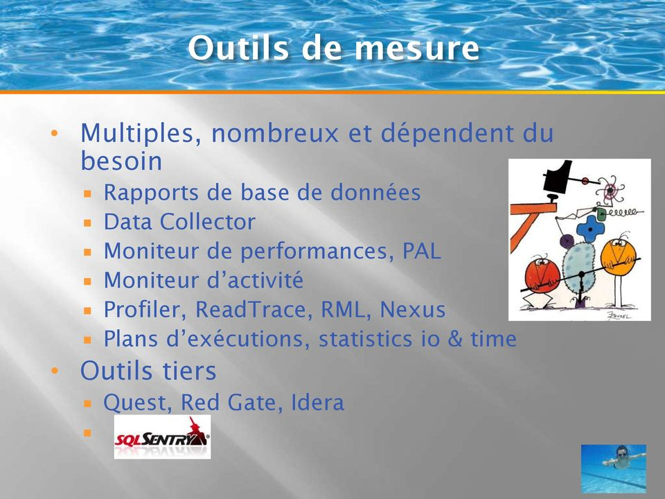 performances, PAL Moniteur d activité Profiler, ReadTrace, RML,