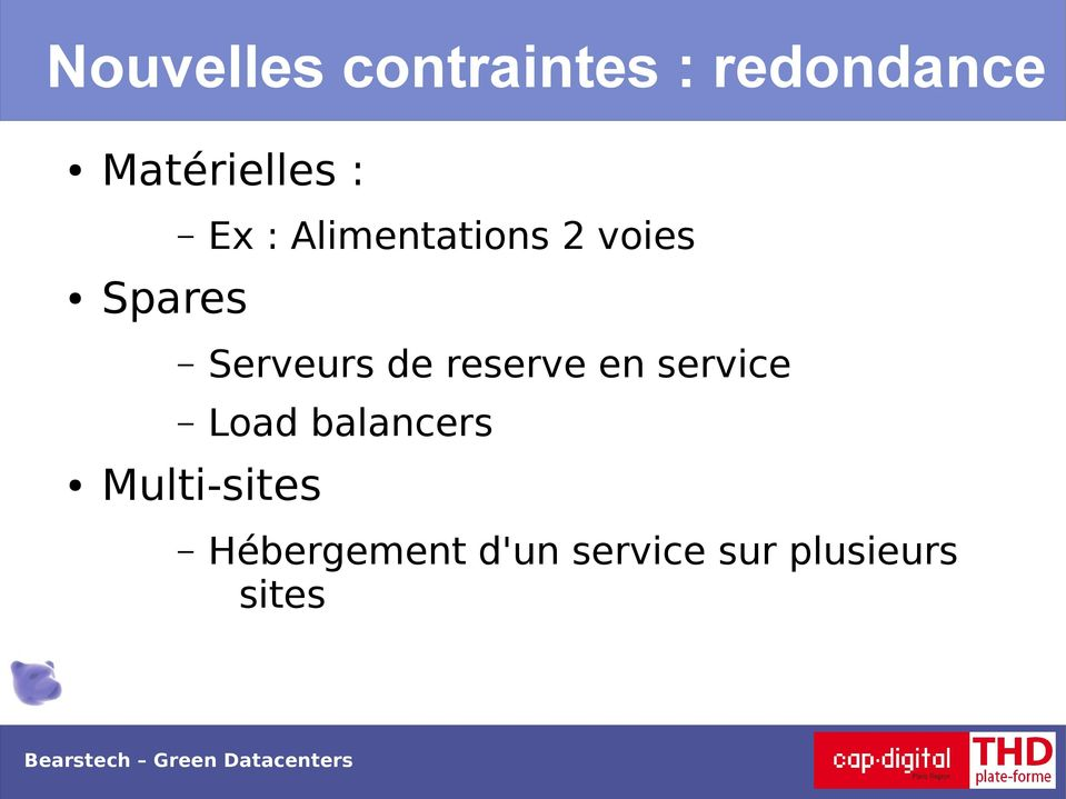 service Load balancers Multi-sites Hébergement d'un