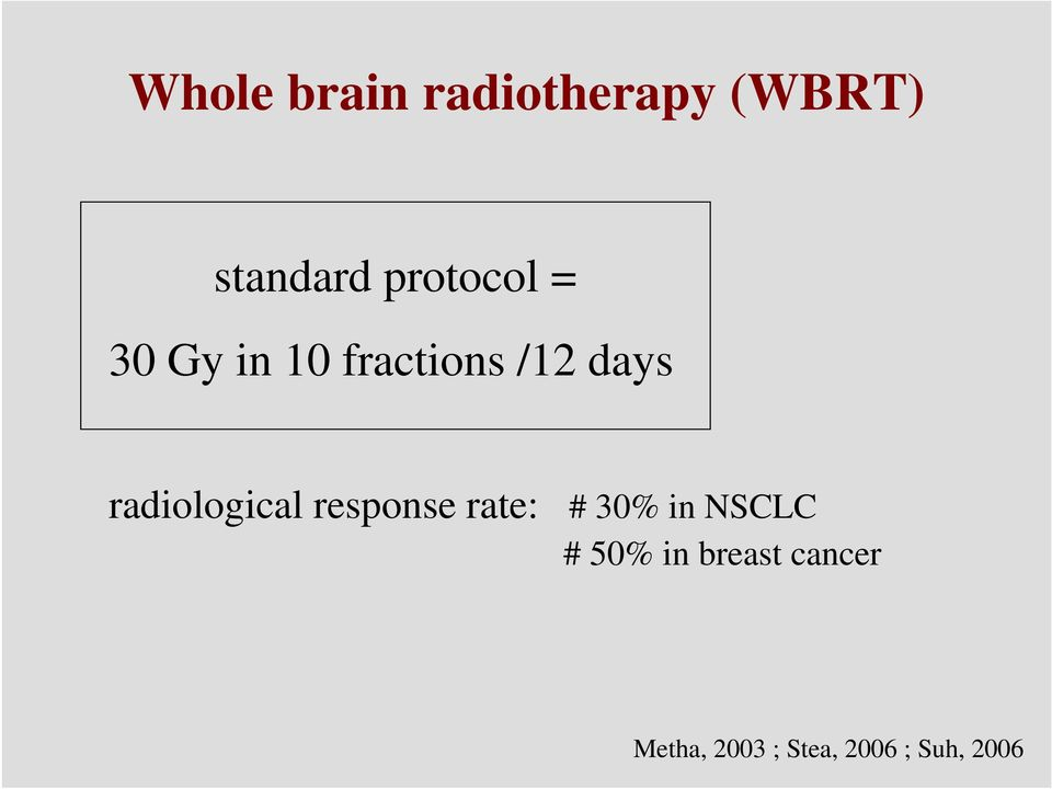 radiological response rate: # 30% in NSCLC #