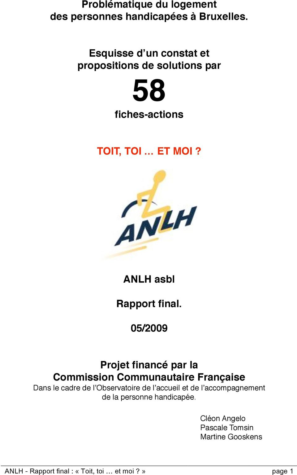 ANLH asbl Rapport final.