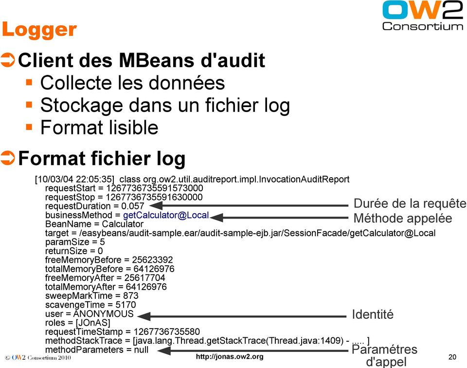 057 businessmethod = getcalculator@local BeanName = Calculator target = /easybeans/audit-sample.ear/audit-sample-ejb.
