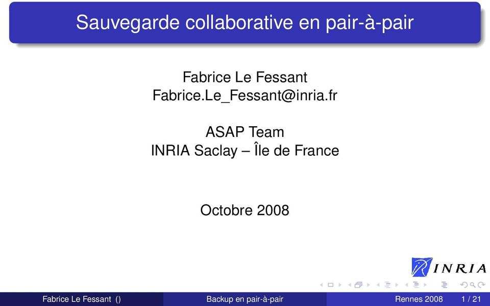 fr ASAP Team INRIA Saclay Île de France Octobre