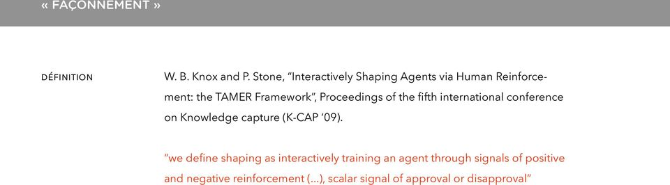 Proceedings of the fifth international conference on Knowledge capture (K-CAP 09).