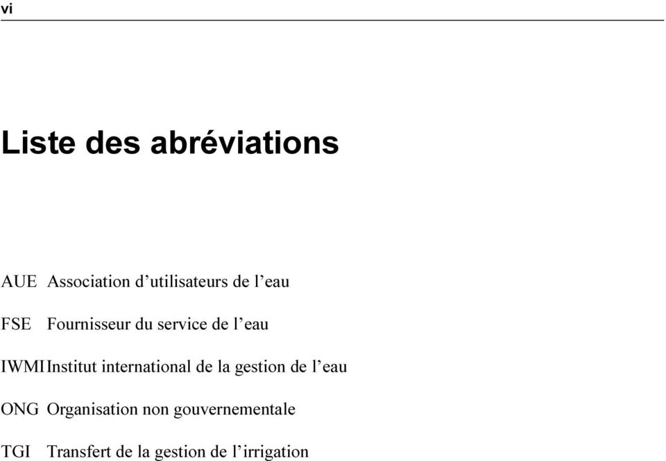 international de la gestion de l eau ONG Organisation non