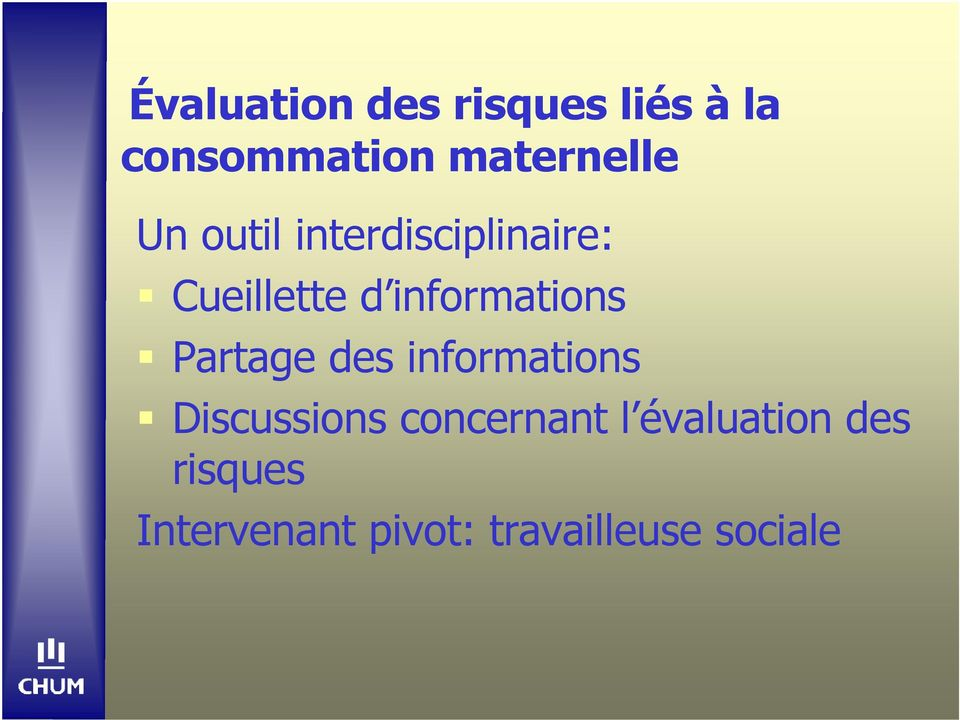 informations Partage des informations Discussions