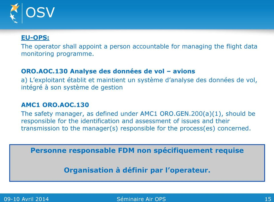 AMC1 ORO.AOC.130 The safety manager, as defined under AMC1 ORO.GEN.
