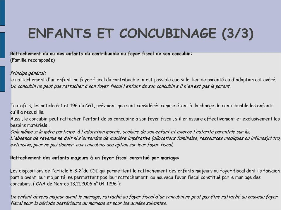 Additif Fiscalite Et Concubinage Pdf Free Download