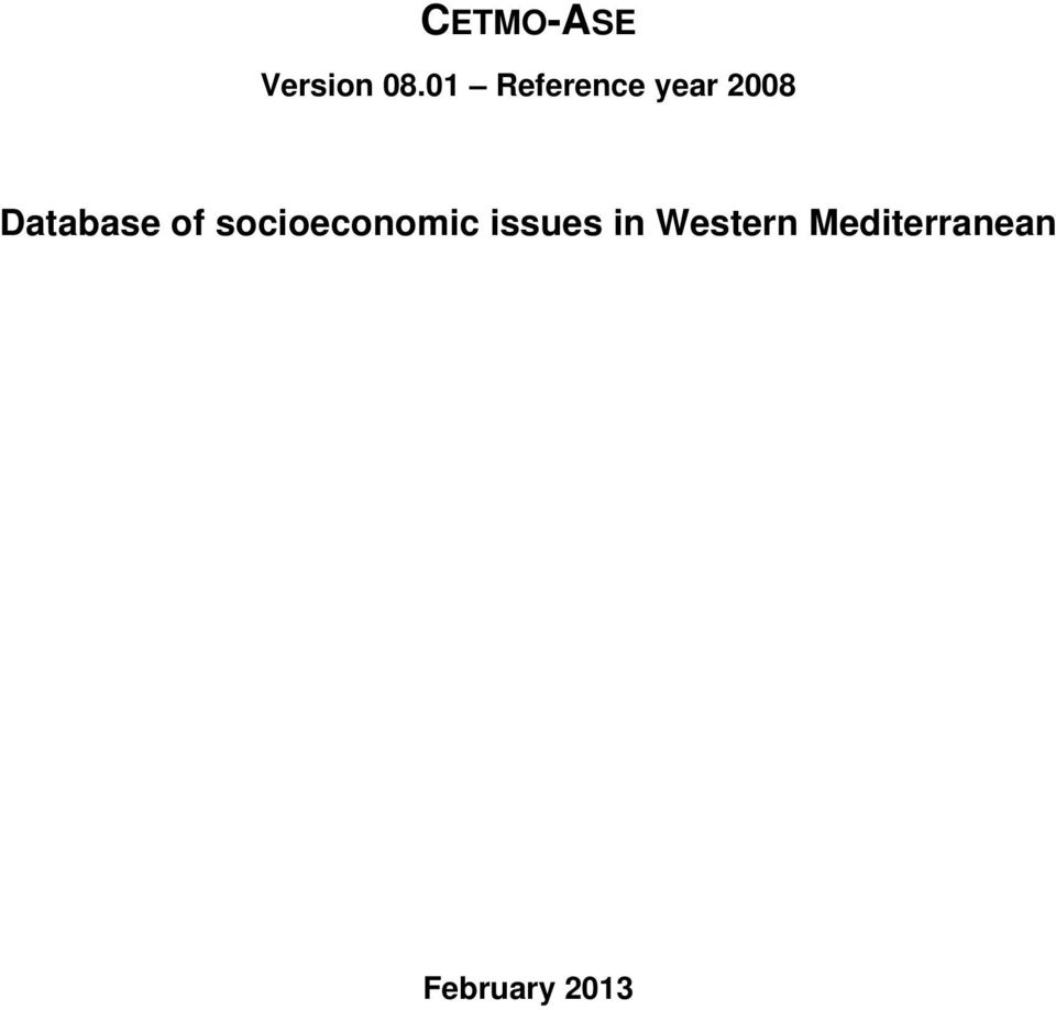 Database of socioeconomic