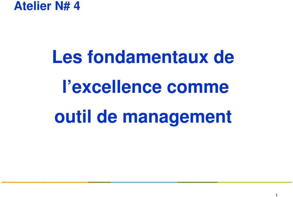 excellence comme