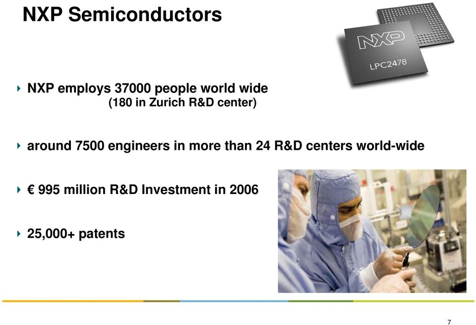 7500 engineers in more than 24 R&D centers
