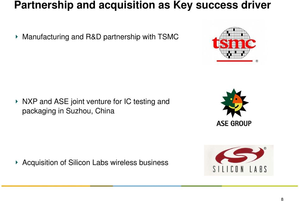 ASE joint venture for IC testing and packaging in
