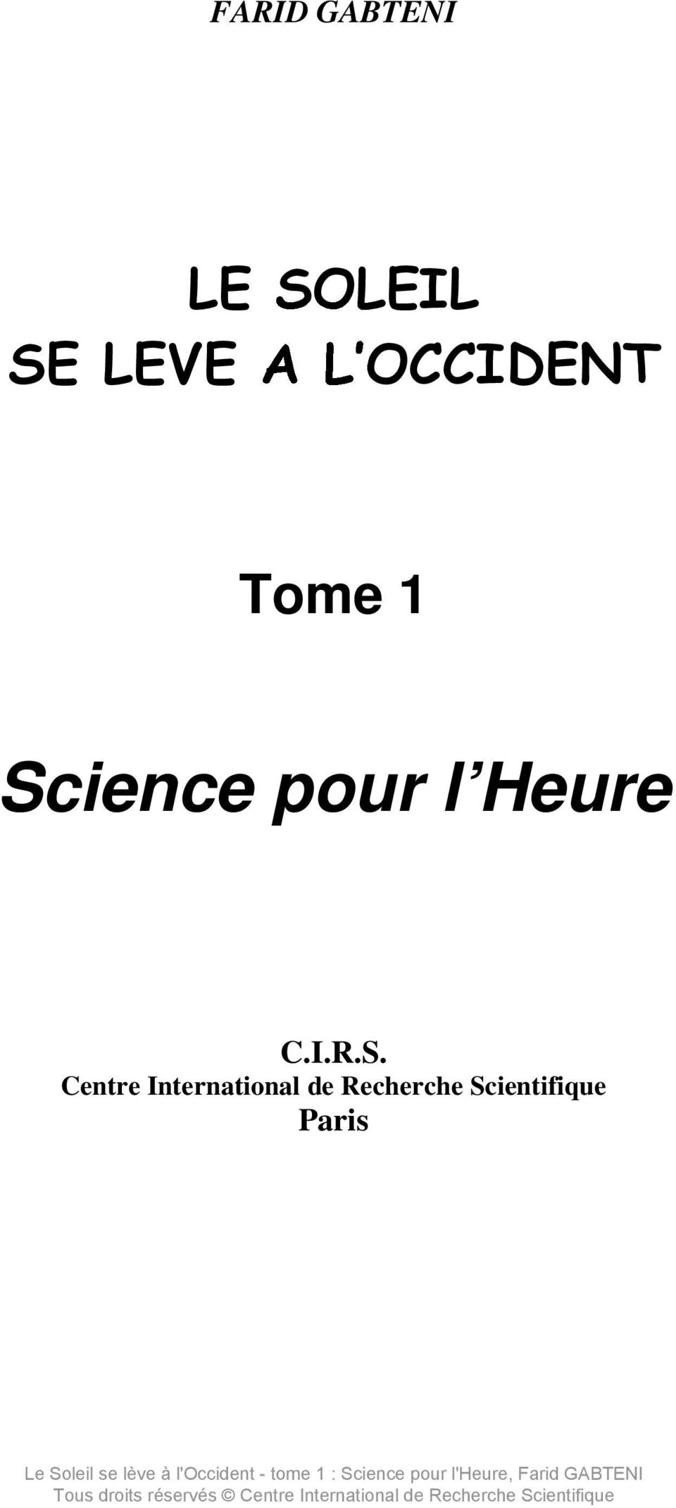 Heure C.I.R.S.