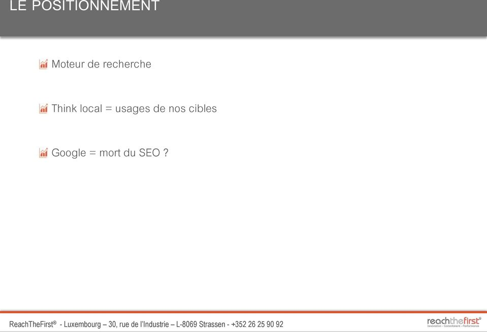 Think local = usages de