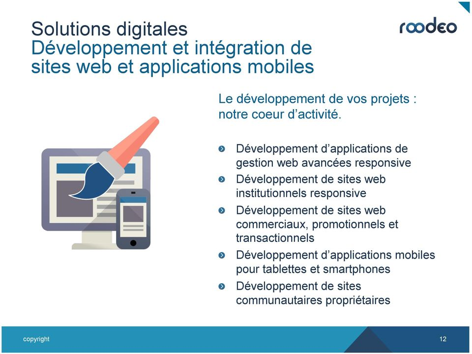 Développement de sites web institutionnels responsive!