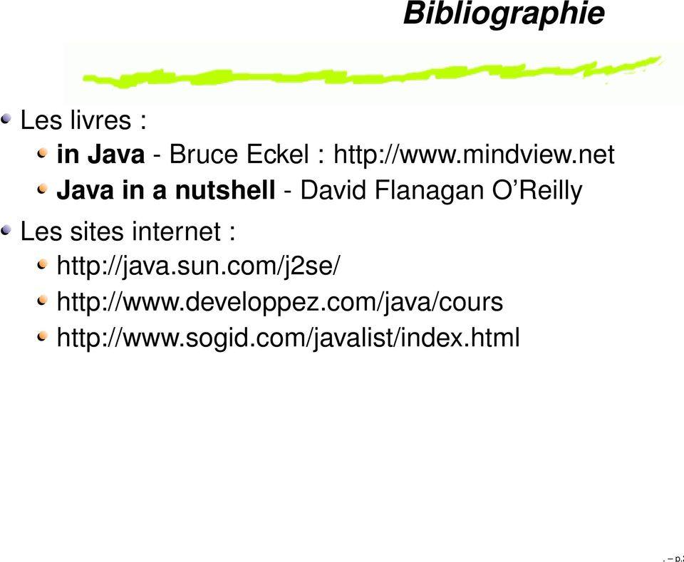 net Java in a nutshell - David Flanagan O Reilly Les sites