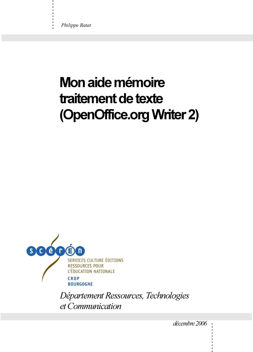org Writer 2) Département