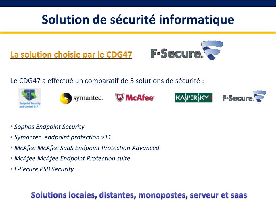 Endpoint Security Symantec endpoint protection v11 McAfee McAfee SaaS