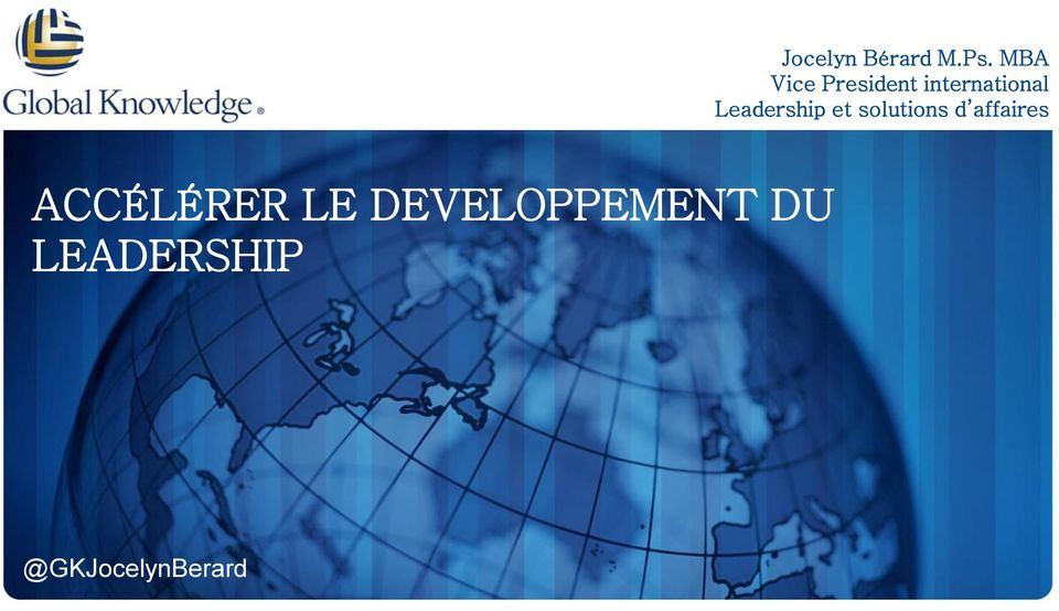 Leadership et solutions d affaires