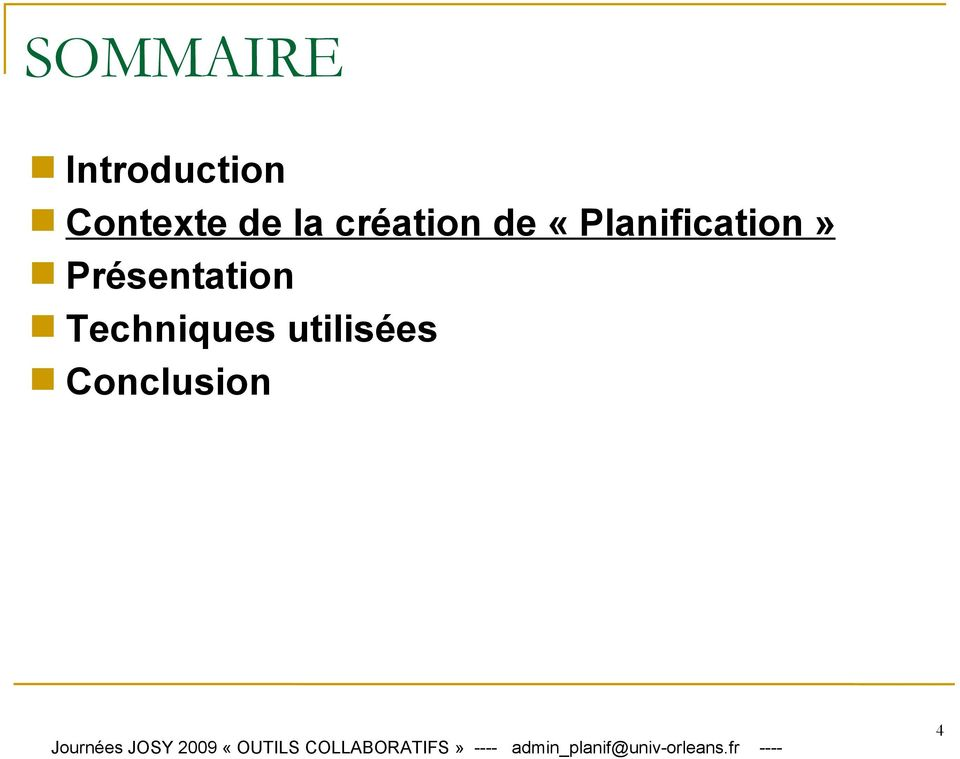 «Planification»