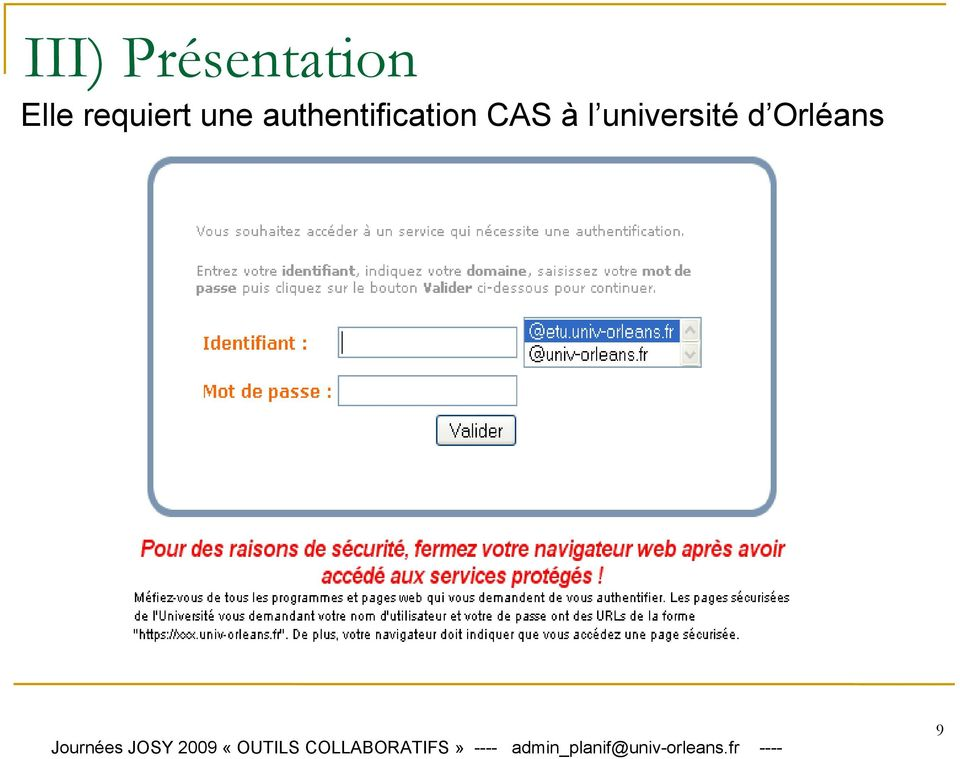 authentification CAS