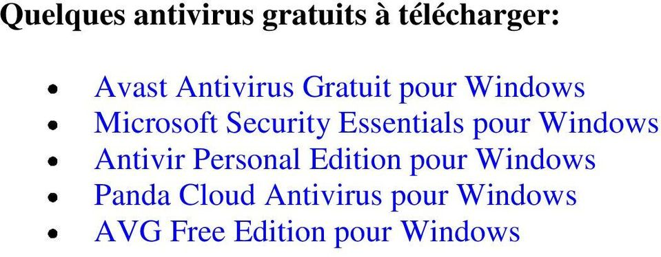 Essentials pour Windows Antivir Personal Edition pour