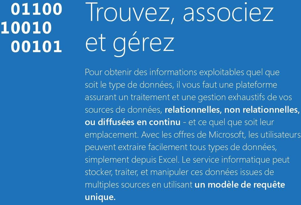 relationnelles, data ou - no diffusées matter where en continu it is located. - et ce quel With que Microsoft's soit leur data solutions, emplacement.