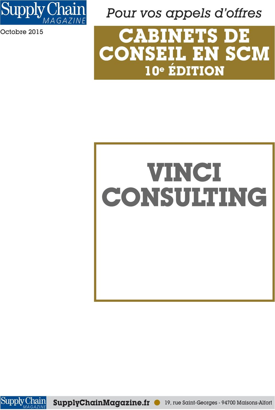VINCI CONSULTING SupplyChainMagazine.