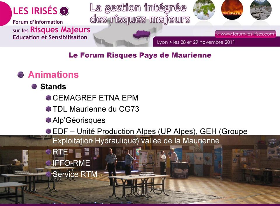 (UP Alpes), GEH (Groupe Exploitation Hydraulique)